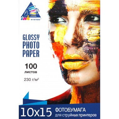 Глянцевая фотобумага 10х15 Inksystem 230 г/м² 100 листов