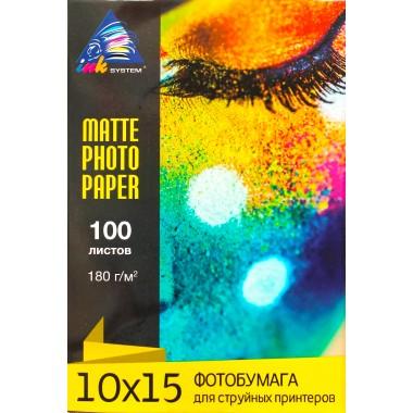 Матовий фотопапір 10х15 Inksystem 180 г/м² 100 аркушів