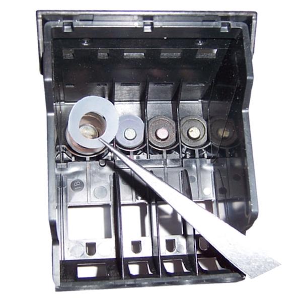 Установка силиконовых уплотнителей под картриджи Canon